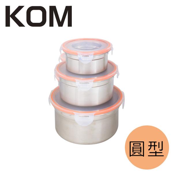 KOM►日式萬用不鏽鋼保鮮盒-圓型(三件組)