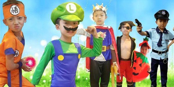 衣童趣♥超級瑪利 兒童 造型服裝 表演派對 必備 馬里奧 演出套裝 【D015】