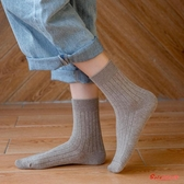 棉襪 襪子女中筒襪秋冬棉堆堆襪秋天襪百搭日系黑色襪子長筒ins潮街頭 多色