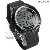JAGA捷卡 超大液晶顯示 多功能運動防水電子錶 防水 冷光 男錶 運動錶 學生錶 軍錶 M1178-A(黑)