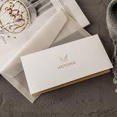 請柬-簡約商務請柬會議邀請函奢侈品高端燙金邀約卡片企業少量定制B-5-凡屋