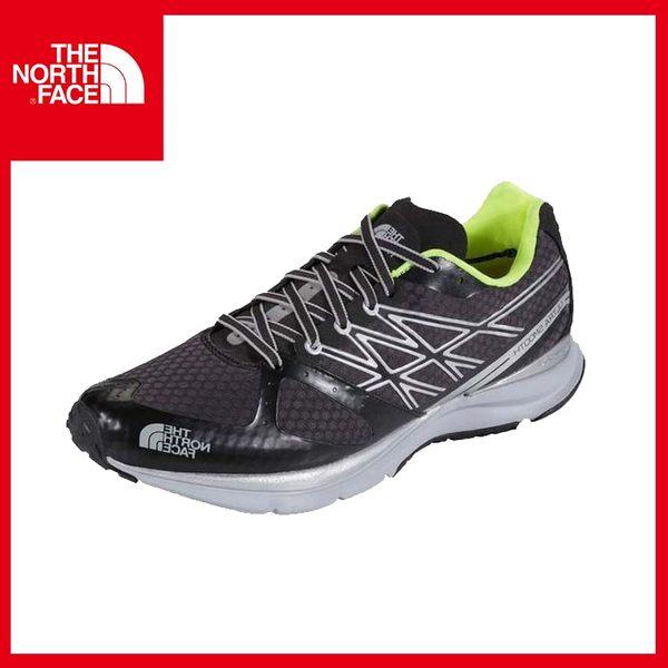【The North Face 男 越野跑鞋《黑/日光黃》】CLX5/慢跑/健行