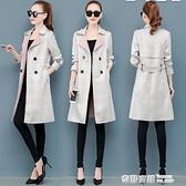 中長款風衣女士2020年秋冬季新款百搭洋氣質格子矮小個子大衣外套 全館免運