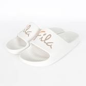 Fila Sleek Slide [4-S326U-117] 男女鞋 運動 涼鞋 拖鞋 休閒 舒適 輕量 防水 白金