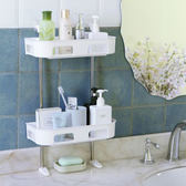 ◄ 生活家精品 ►【P267】壁掛式多層置物架 浴室 免打孔 洗漱架 衛生間 置物 免釘 收納架 廚房
