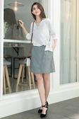 單一優惠價[H2O]小花刺繡A字顯瘦褲裡短裙 - 藍/灰/粉色 #8672006