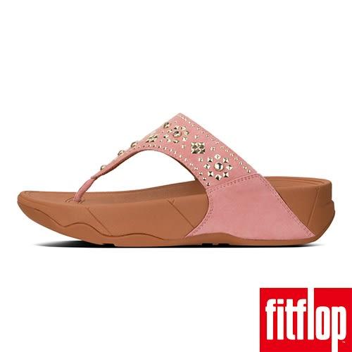 FitFlop LULU AZTEK STUD TOE-THONG-灰粉