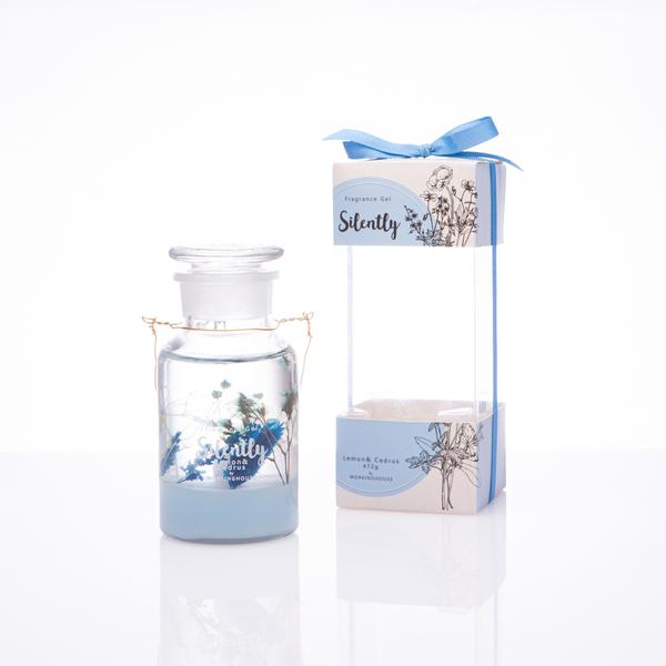 Silently神秘藍調LED乾燥花香氛凍-生活工場