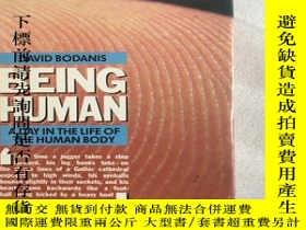 二手書博民逛書店being罕見human a day in the life of the human bodyY234641