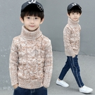 男童高領套頭毛衣 新品兒童加厚針織衫