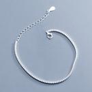 925純銀 滿鑽排鑽天然白水晶 極細手鍊...