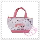 ♥小花花日本精品♥Hello Kitty 美樂蒂Melody保冷提袋外出袋便當袋袋中袋坐姿插畫風緞帶 (預購)