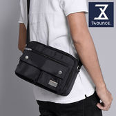 74盎司 側背包 經典格紋雙口袋側背包[G-944]