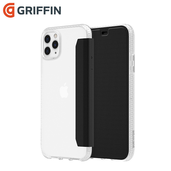 Griffin Survivor Clear Wallet iPhone 11 Pro Max(6.5吋)透明背套防摔側翻皮套