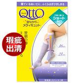 日本Qtto-Scholl睡眠機能小腿露指襪(經典粉紫款)瑕疵出清