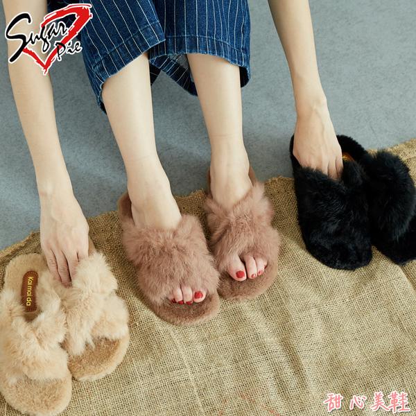 韓版保暖毛絨拖鞋