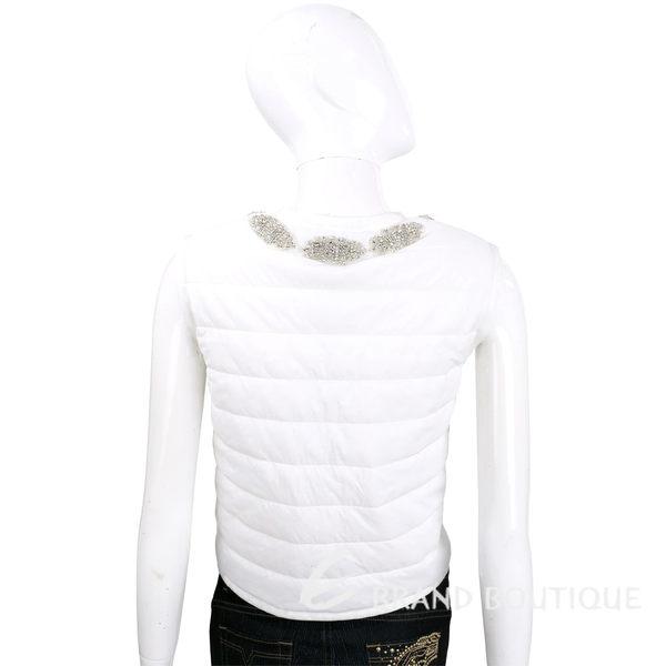 ERMANNO SCERVINO 白色領口鑽飾拉鍊背心 1620321-20