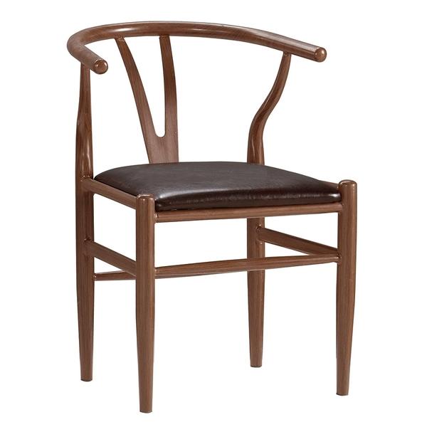 【森可家居】戴爾餐椅(皮)(五金腳) 8CM1033-14