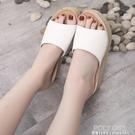 坡跟拖鞋女外穿夏新款夏季鬆糕百搭厚底增高夏天網紅涼拖鞋子 夏季狂歡