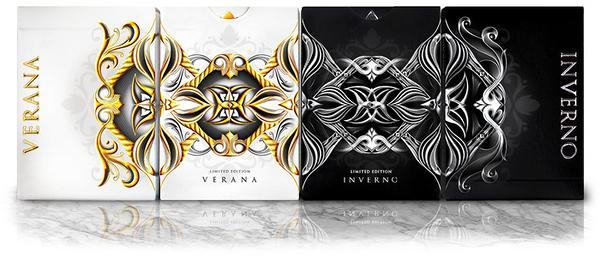 【USPCC 撲克】Seasons Verana白色 Playing Cards /Inverno黑色