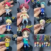 1代BTS防彈少年團鑰匙圈 動漫公仔 鑰匙圈掛件 麻繩鑰匙扣 裝飾玩具 娃娃機公仔