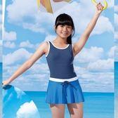 ☆小薇的店☆台灣製沙麗品牌運動休閒風格中童連身裙泳裝特價790元 NO.5701(XL-EL)