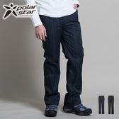 Polarstar 保暖長褲│抗風│格紋男長褲 P13413『黑灰』