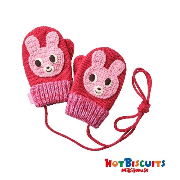 HOT BISCUITS 可愛小兔立體保暖手套(粉)