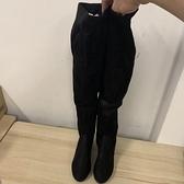 韓版顯瘦高筒靴子高跟過膝靴長筒靴長靴(40號/777-9222)