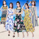 洋裝 8波西米亞棉綢海邊度假長裙背心連身裙