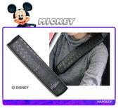 【愛車族購物網】迪士尼 米奇安全帶護套-黑  (單入)
