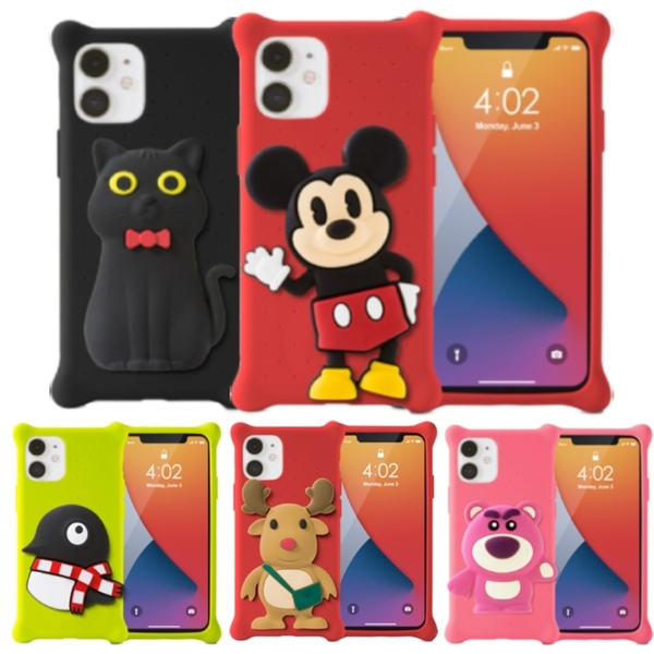 BONE - IPhone12系列 公仔泡泡保護套 - 原創 & 迪士尼 米奇/熊抱哥