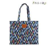 文件袋 包包 防水包 雨朵小舖 M453-021 OL文件提袋-深藍七彩圖騰羽毛13231 funbaobao