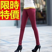 休閒長褲保暖加絨-伸縮修身顯瘦微彈力女長褲子3色63e3[巴黎精品]