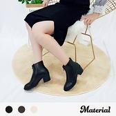 短靴 前拉鍊尖頭短靴 MA女鞋 T5634