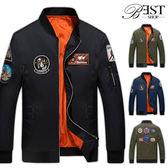 外套 飛行外套 MA-1 美式軍風電繡徽章防風夾克【W05TJD81610】