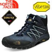 【The North Face 男款 GORE-TEX中筒登山鞋 都會藍/霧古銅】NF00CLW2/★滿額送