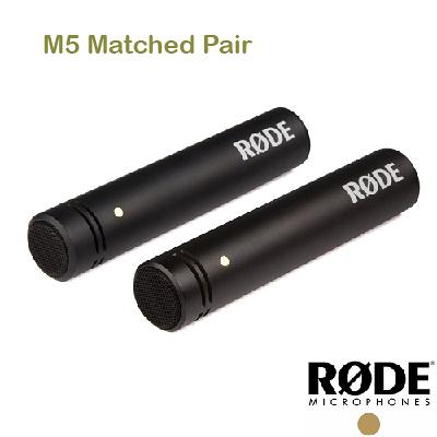 黑熊數位 RODE M5 Matched Pair 槍型 麥克風 電容式 收音 M5MP 心形指向性 鍍金振膜
