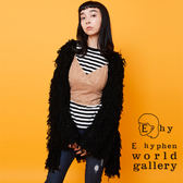 ❖ Hot item ❖ 毛海蓬鬆長版罩衫大衣外套 - E hyphen world gallery