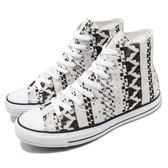 Converse Chuck Taylor All Star Print 白 黑 民俗風 帆布鞋 運動鞋 女鞋【PUMP306】 549651C
