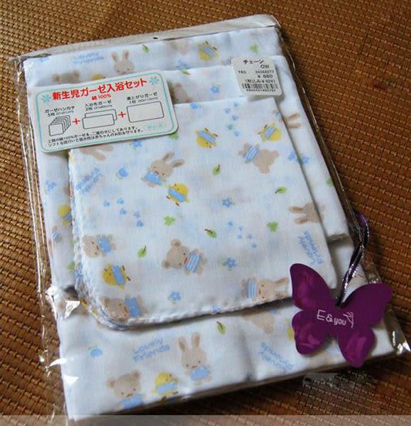 可愛圖樣全棉雙層紗布巾8件組【F126】孕味十足