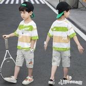 男童短袖套裝2020新款洋氣夏裝兒童韓版潮夏季中大童10歲男孩夏天