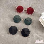 墨鏡 韓國chic原宿風眼鏡女復古金屬圓框太陽鏡圓臉網紅時尚墨鏡潮