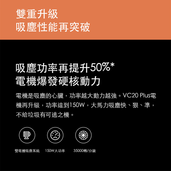 小米有品 德爾瑪無線吸塵器 VC20 Plus 手持吸塵器 除蟎 大吸力 輕巧1kg 低噪 多刷頭 電量監控 長續航