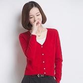 針織外套-羊毛長袖短款休閒鏤空女毛衣外套3色72ak33[巴黎精品]
