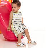 【愛的世界】純棉圓領橫條紋背心套裝/6歲-台灣製- ★春夏套裝 夏出清