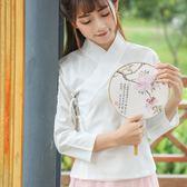 日常改良漢服女交領雪紡中國風內搭中衣古裝