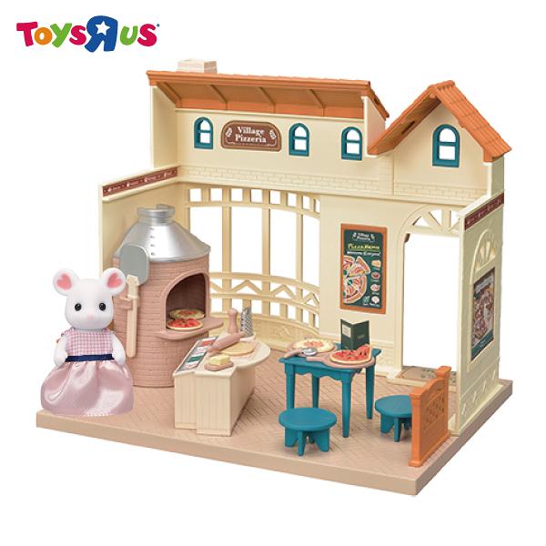 玩具反斗城 EPOCH CO  森林家族  鄉村披薩屋豪華組(附人偶)