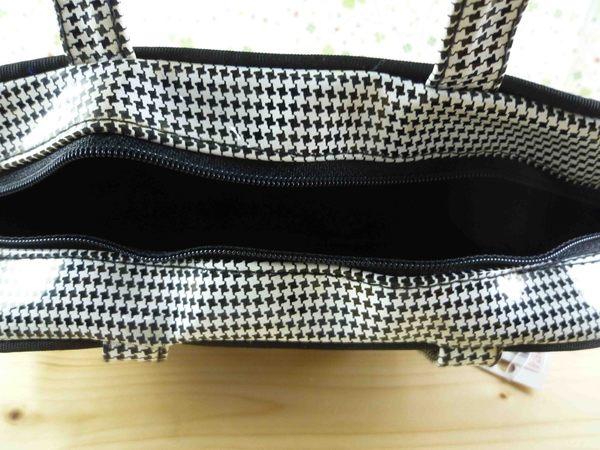 【震撼精品百貨】日本精品百貨~手提袋-黑細格
