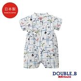DOUBLE_B 日本製 蜻蜓風車印圖浴衣